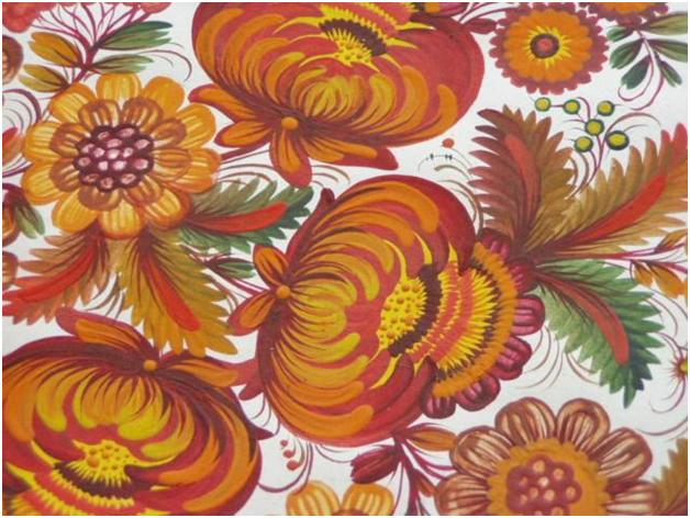 Рхема вышивки Хохлома 2: