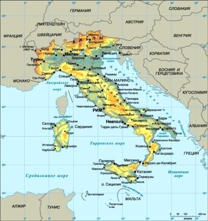 Описание страны италия