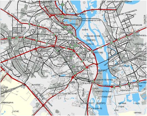 Онлайн-карта Днепропетровской