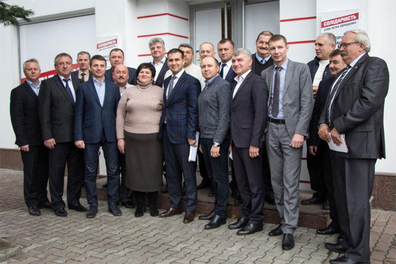 победители на должности председателей ОТГ от партии «Солидарность»