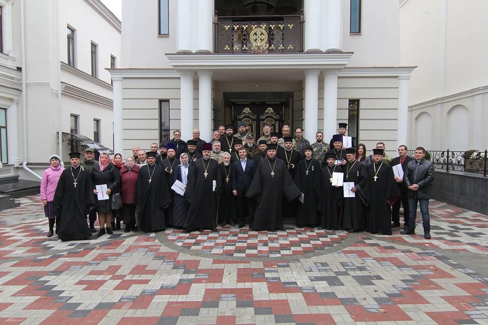 В Днепровской Епархии УПЦ Киевского Патриархата наградили капелланов – 32 священников