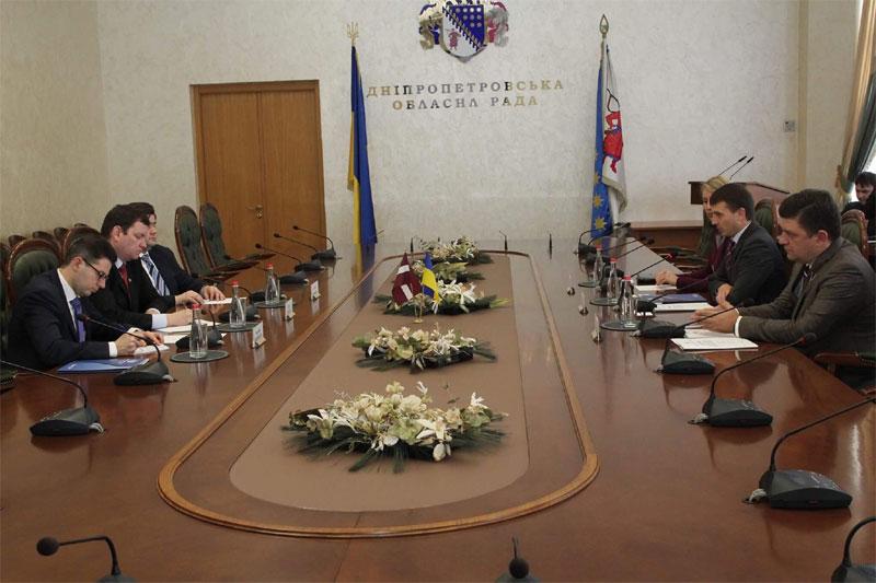 визит в Днепр Чрезвычайного и Полномочного посла Латвийской Республики Юриса Пойканса