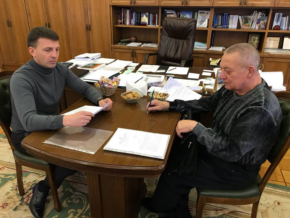 ректор ДНУ Николай Поляков и председатель областного совета Глеб Пригунов