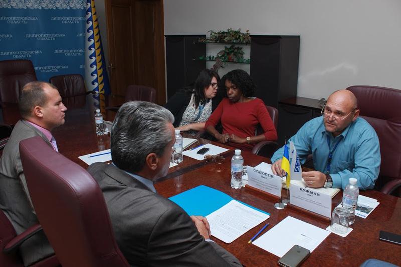 В ДнепрОГА прошла первая официальная встреча с руководителем группы наблюдателей миссии ОБСЕ