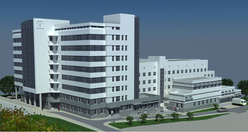 В Днепропетровской областной офтальмологической больнице строят корпус хирургии